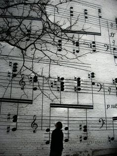 Musical Street Art. @Deidré Wallace OMG I think I saw this on a commercial but if not I totally recognize this