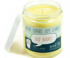 Make your reading nook a little cozier by providing some ambient lighting using this old book scented candle. The candle is made from all natural soy wax and releases a delightful aroma reminiscent of a distinguished library into the air as it burns.