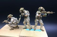 American AOR1 seals and 3 special forces Camo 1 35 LAPD SWAT contract