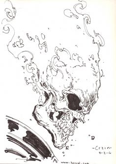 Ghost Rider by Clayton Crain Comic Book Artists, Comic Artist, Comic Books Art, Ghost Rider Drawing, Ghost Rider Tattoo, Ghost Raider, Ghost Rider Pictures, Spirit Of Vengeance, Ghost Rider Marvel