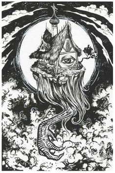 """""""Baba Yaga"""" Print -M · AudraAuclair · Online Store Powered by Storenvy"""