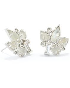 From David Yurman Adella Stud Earrings In Silver
