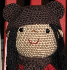 Sweet 12'' Doll - PDF crochet pattern.