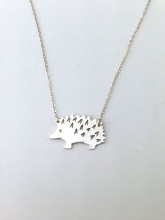 Hedgehog pendant in silver