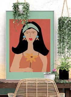 Abstract Lady Art Prints 31 Boho Room, Art Archive, Modern Bohemian, Female Art, Printable Wall Art, Modern Art, Digital Art, Aurora Sleeping Beauty, Gallery Wall