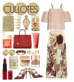 """""""CULLOTES"""" by nafilahnovehani ❤ liked on Polyvore featuring Dolce&Gabbana, Valentino, Yves Saint Laurent, Kate Spade, Gucci, Lacoste, Michael Kors, Bobbi Brown Cosmetics, Rimmel and Rodial"""