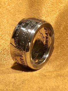 Handmade morgan silver dollar coin ring silver Men's ring anniversary gift Silver Dollar Coin, Morgan Silver Dollar, Mens Silver Rings, Silver Man, Mens Rings Etsy, Spoon Rings, Coin Ring, Skull Jewelry, Antique Rings