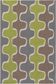 Joan JOAN-6070 Lime/Gray/Taupe Contemporary Rug