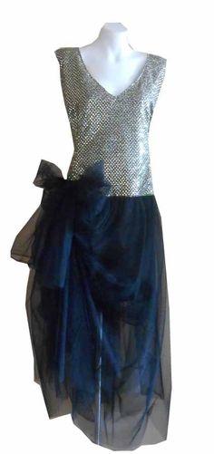 VINTAGE HARAH  GREAT GATSBY  SEQUIN MID CALF SLEEVELESS  DRESS 6-8-10 -12-14-16 Prom Dresses, Formal Dresses, Gatsby, Designer Dresses, Sequins, Vintage, Fashion, Dresses For Formal, Moda