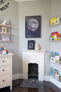 Born & Bred Studio London Interior Design - Photo Credits: Anna Stathaki. #childrensbedroom #kidsroomideas #nurseryideas #babygirlnursery #pinkshelves #londoninteriordesigner #interiorsinspiration #crib #londonspaces #londoninteriordesign #fisherprice #interiordesign #kidseinteriors #ikeahack #kidsprints #kidsartwork #bornandbredstudio