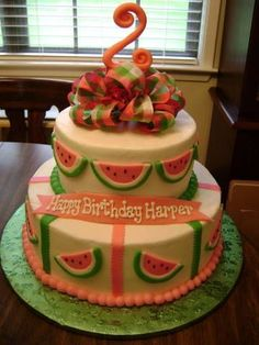 Watermelon Birthday change to strawberries