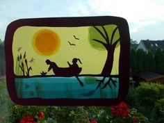 Jahreszeitentisch - Waldorf Transparentbild Sommertraum - ein Designerstück von Puppenprofi bei DaWanda