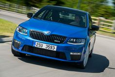 The sporty vRS version of Skoda's new Octavia hatch and estate ticks all the right boxes. Car Posters, Poster Poster, Product Launch, Sporty, Blue, Mousepad, Wallpaper, Google, Wall Papers