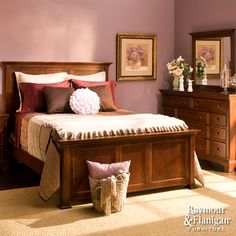 Geneva Collection | Add a touch of beautiful transitional style to your bedroom with this 4-pc. queen bedroom set.