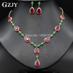 Elegant Teardrop Zircon Necklace Jewelry Sets For Women //Price: $49.58 & FREE Shipping //     #hashtag4