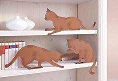 Für ein verspieltes Wohn-Ambiente – ein Muss für alle Katzenfreunde! #landhaus #wohnen #home #deko #katze #metall #weltbild