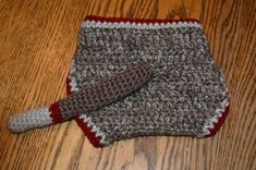 Sock Monkey Diaper Cover with Tail - Free pattern