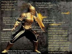 The Armor of GOD - Extinguish the fiery darts of the enemy