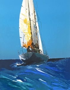 Lot 134 - ‡ Donald Hamilton Fraser R.A. (1929-2009) Sailing Signed and numbered 235/250 Silkscreen 56 x 43.