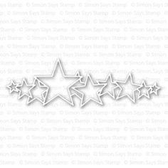 Simon Says Stamp STARS PARADE Craft Die S227 zoom image $14.99