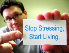 Reducing stress is the first step in healthy living.