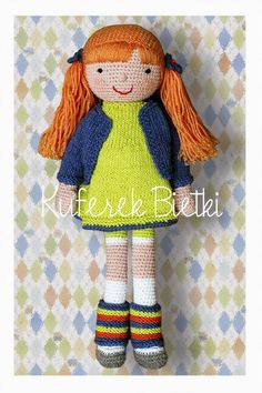 Kuferek Bietki: Ariella - lalka na szydełku/ Gehäkelte Puppe