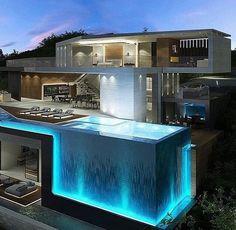 Image via We Heart It #big #home #house #incredible #rich #swimmingpool