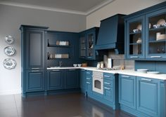 Каталог кухонь | BRISTOL BLUE | Кухни VIRS Lockers, Locker Storage, Kitchen Ideas, Kitchen Cabinets, Dream Houses, Furniture, Home Decor, Hipster Stuff, Kitchen Wall Cabinets