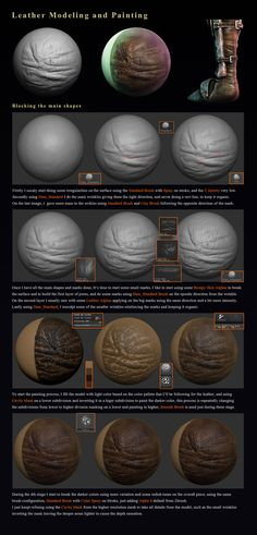 ZbrushCentral - Leather Zbrush Breakdown - Wellington-Weishaupt