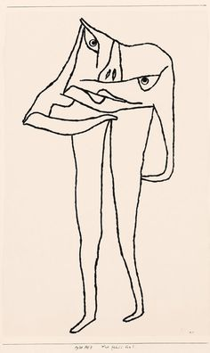 Paul Klee - Was fehlt ihm?, 1930, 268 (AE 8) - What's the Matter with Him? Stamped drawing in ink on Ingres paper on cardboard, 55.5 x 34 cm