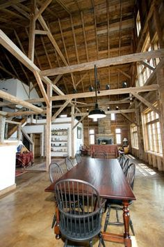 amazing company that dismantles and sells old barn timber frames for houses…