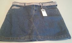 Ladies Sonoma Original Fit Skort Size 6 With Belt NWT! Blue Jeans #Sonoma #Skorts