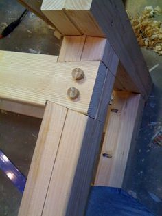 Workbench Construction #1: Joinery for the legs/base - by Richard B @ LumberJocks.com ~ woodworking community