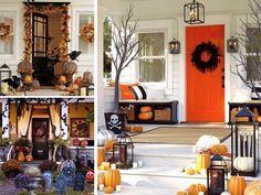 Decorare l'ingresso per Halloween