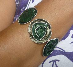 Caffè di gioielli Upcycled Nespresso capsule cialde colorate, riciclato Eco amichevole braccialetto regolabile.