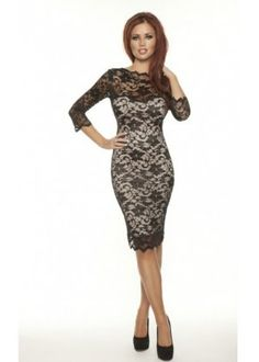 Lace Long Sleeve Dress | ... Dresses › Prom › Amy Childs Black Lacey Long Sleeve Lace Dress