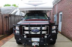 Front grill on truck camper, http://www.truckcampermagazine.com/camper-mods/contests/july-mod-contest-medium-mods/