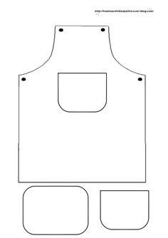 Free apron With Pocket Template.