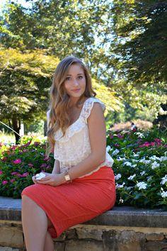 classyheartstyle Lace Patterns :: Peach & White