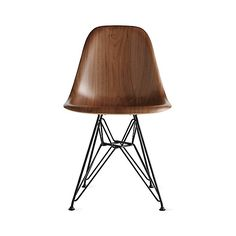 Eames Molded Wood Side Chair Design Within Reach (€715) ❤ liked on Polyvore featuring home, furniture, chairs, modern side chair, bentwood chairs, molded wood chair, bent wood furniture and bentwood side chair