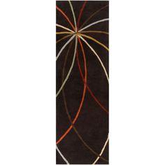 Hughson Chocolate (Brown) 2 ft. 6 in. x 8 ft. Rug Runner