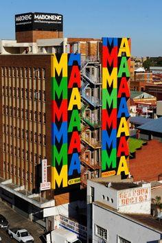 Espo New Mural for I Art Joburg @ Johannesburg, South Africa Maboneng District Urban Life, Urban Art, Johannesburg Africa, Steve Powers, South African Flag, Modern Art, Contemporary Art, Art Public, Street Art