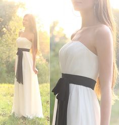 In the rays of the sun    WHITE LONG DRESS WITH BLACK BELT, BONCYBOUTIQUE.COM  GOLD EARRINGS, H
