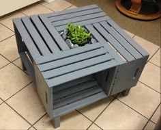 This simple coffee table can be put together for under $50. And it looks SO COOL!