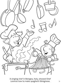 Italian is cooking pizza coloring page | Free Printable Coloring ...