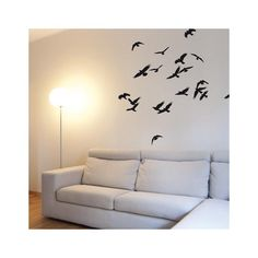 Birds In Flight-Black Wall Decal Black Wall Stickers, Wall Stickers Animals, Art Decor, Diy Home Decor, Room Decor, School Murals, Black Walls, Mural Art, Cool Posters