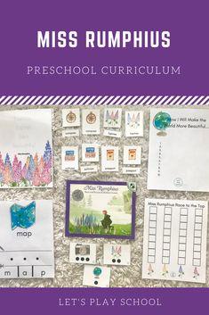 Miss Rumphius preschool curriculum Preschool At Home, Preschool Curriculum, Homeschooling, Pre K Age, Child Love, Honey, Activities, Learning, Home School Preschool