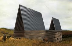 big sky montana - Axis Mundi's Ark House is a design for the open plains of Big Sky Country in Montana. The animals found in this and the following rendering may give the impression that the wood and steel structure is a modern-day Noah's ark