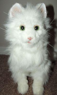 Hasbro Furreal Friends LULU Interactive Animated White Persian Kitty Cat #Hasbro