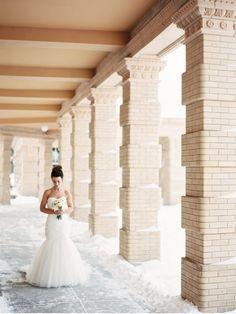 Montana Winter Wedding / Photography: @orangephoto / Flowers: Katalin Green